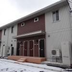 秋田駅まで徒歩約10分ほどの新築アパート「ル・ブランシェ」
